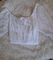 Čipkasta bijela košulja