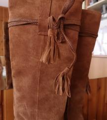 Čizme Zara prava koža