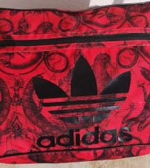 Adidas crvena torba