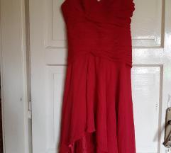 Crvena svečana haljina 38
