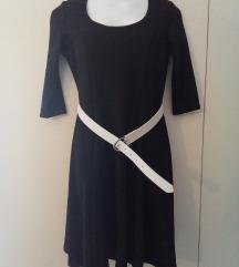 NOVO crna haljina i remen, vel. S-L