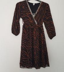 haljina nova zebra smede crni uzorak