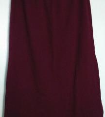 Bordo suknja L