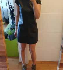 Zara kožna haljina S/M