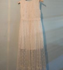 OVS midi haljina od čipke i tila, S, 36-38,pt uklj
