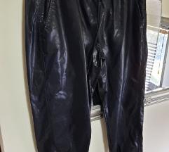 Zara kožne hlače baggy%