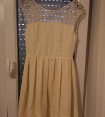 ZARA žuta haljina
