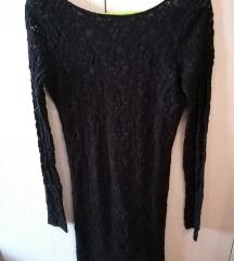Crna haljina otvorenih ledja %%%% AKCIJA