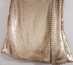 Suknja zlatna(ljuskice)