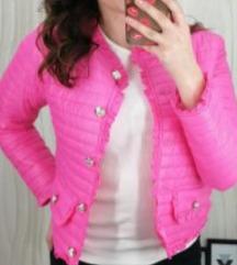 Hot pink proljetna jaknica