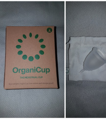 Nova neotvorena Organicup menstrualna čašica