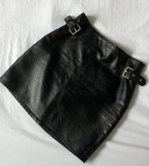 H&M kožna uska suknja