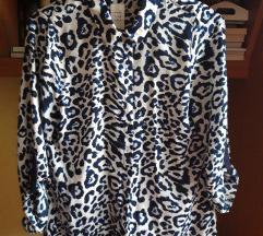Leopard bluza, navy blue