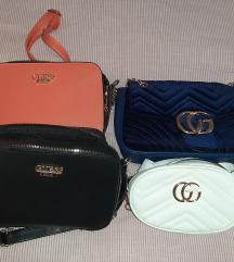 Lot od 4 torbice