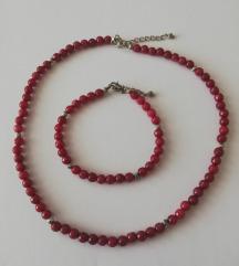 Ogrlica i narukvica od rubina