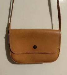 Handmade vintage kožna smeđa torbica