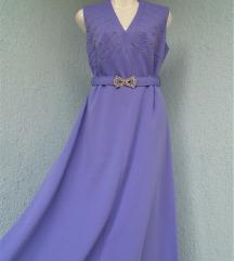 Dugačka ljubičasta vintage haljina