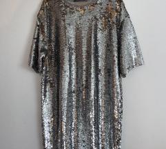NOVO BERSHKA mini šljokasta haljina