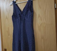 Tamnoplava haljina sa bijelim točkicama