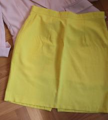 vintage žuta suknja