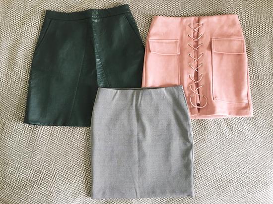 Lot (3) mini suknje