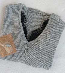 SNIŽENO!! Novi vuneni pulover+poklon