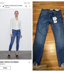 Zara skinny traperice s etiketom