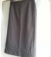 Crna suknja duža A kroj veličina M