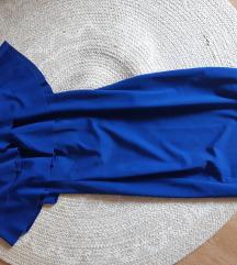 Plava haljina sa volanima