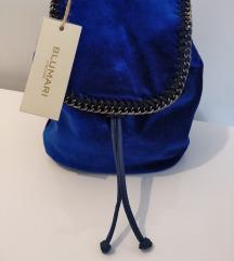 Kraljevsko plava plišana torba/ruksak