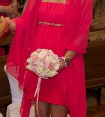 Svečana haljina koraljne boje