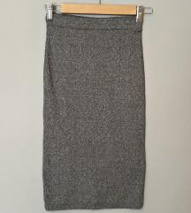 Uska pencil pamučna suknja REZ.