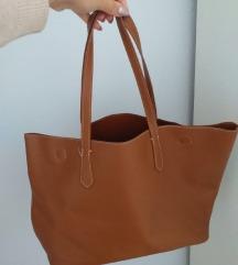 Smeđa shopper bag torba na magnet