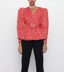 Zara cvijetna košulja s remenom xs/s