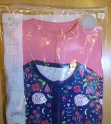 Jednodjelna pidžamica, 2 kom., 9-12 mj., 80