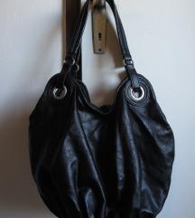 Crna torba od umjetne kože