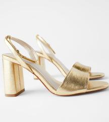 Zara sandale zlatne