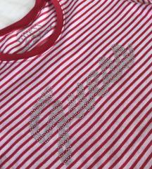 Guess majica na rozo bijele pruge 120kn