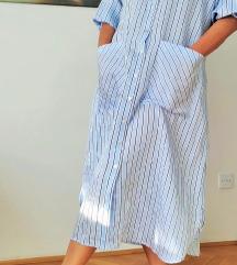 Zara haljina-košulja na pruge