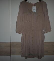 BERSHKA nova haljina boje cappuccina vel.XL više L