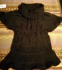 Univerzalna smeđa vunena majica s rolkom