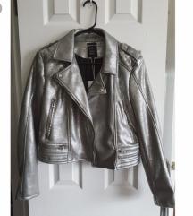 Zara srebrna jakna M