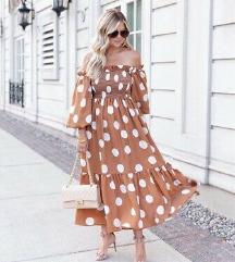 H&M nova haljina s etiketom smeđa