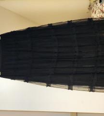 Crna suknja od tila NOVO