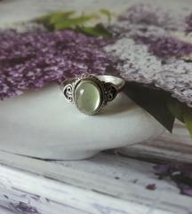 Rez za deatehno-Prsten srebro prehnit