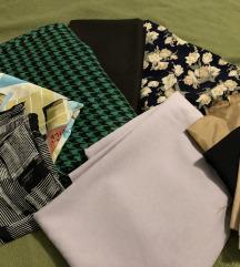Razne tkanine za šivanje
