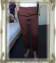 Smeđe hlače - TERRANOVA, vel. S (36)