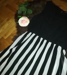 Haljina na crno-bijele pruge