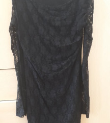 crna haljina, čipka
