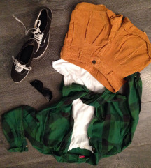 Zelena karirana košuljica